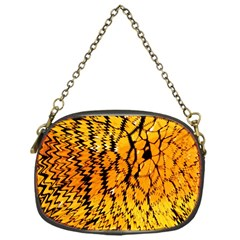 Yellow Chevron Zigzag Pattern Chain Purses (one Side)