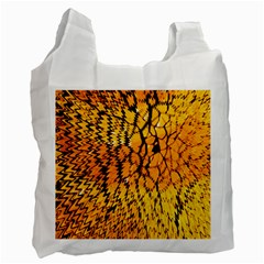 Yellow Chevron Zigzag Pattern Recycle Bag (two Side)