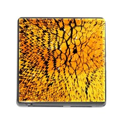 Yellow Chevron Zigzag Pattern Memory Card Reader (square)