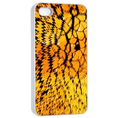 Yellow Chevron Zigzag Pattern Apple Iphone 4/4s Seamless Case (white)