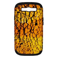 Yellow Chevron Zigzag Pattern Samsung Galaxy S Iii Hardshell Case (pc+silicone)