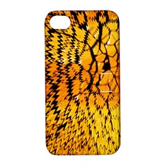 Yellow Chevron Zigzag Pattern Apple iPhone 4/4S Hardshell Case with Stand