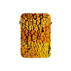 Yellow Chevron Zigzag Pattern Apple iPad Mini Protective Soft Cases