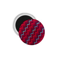 Red Turquoise Black Zig Zag Background 1.75  Magnets