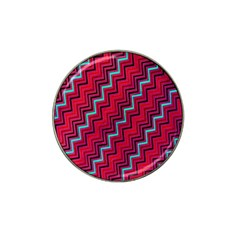 Red Turquoise Black Zig Zag Background Hat Clip Ball Marker (4 pack)