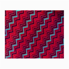 Red Turquoise Black Zig Zag Background Small Glasses Cloth