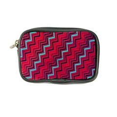 Red Turquoise Black Zig Zag Background Coin Purse