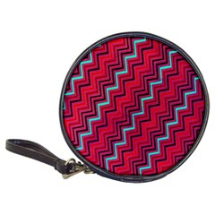 Red Turquoise Black Zig Zag Background Classic 20-CD Wallets