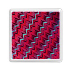 Red Turquoise Black Zig Zag Background Memory Card Reader (square)