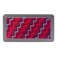 Red Turquoise Black Zig Zag Background Memory Card Reader (mini)