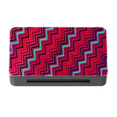Red Turquoise Black Zig Zag Background Memory Card Reader with CF