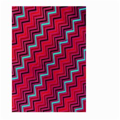 Red Turquoise Black Zig Zag Background Large Garden Flag (two Sides)
