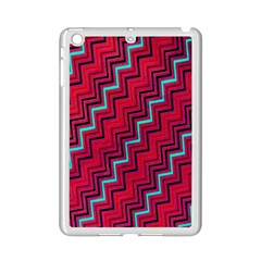 Red Turquoise Black Zig Zag Background Ipad Mini 2 Enamel Coated Cases