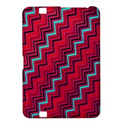 Red Turquoise Black Zig Zag Background Kindle Fire Hd 8 9