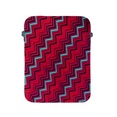 Red Turquoise Black Zig Zag Background Apple iPad 2/3/4 Protective Soft Cases