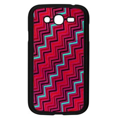 Red Turquoise Black Zig Zag Background Samsung Galaxy Grand DUOS I9082 Case (Black)