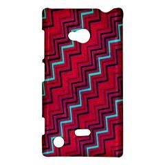 Red Turquoise Black Zig Zag Background Nokia Lumia 720