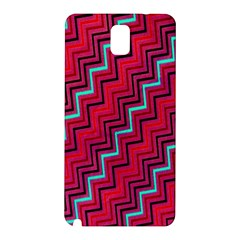Red Turquoise Black Zig Zag Background Samsung Galaxy Note 3 N9005 Hardshell Back Case