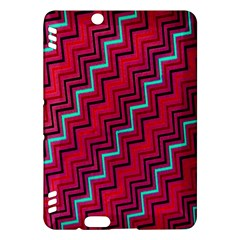 Red Turquoise Black Zig Zag Background Kindle Fire HDX Hardshell Case