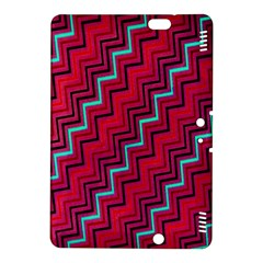 Red Turquoise Black Zig Zag Background Kindle Fire Hdx 8 9  Hardshell Case