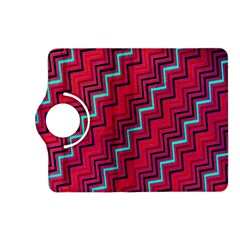Red Turquoise Black Zig Zag Background Kindle Fire HD (2013) Flip 360 Case