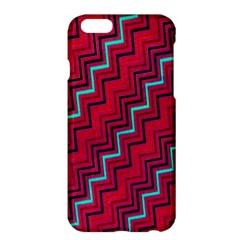 Red Turquoise Black Zig Zag Background Apple iPhone 6 Plus/6S Plus Hardshell Case