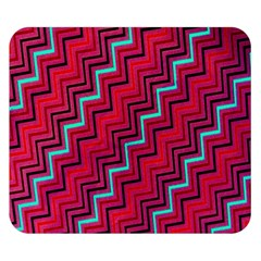 Red Turquoise Black Zig Zag Background Double Sided Flano Blanket (small)