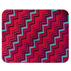 Red Turquoise Black Zig Zag Background Double Sided Flano Blanket (medium)