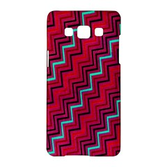 Red Turquoise Black Zig Zag Background Samsung Galaxy A5 Hardshell Case