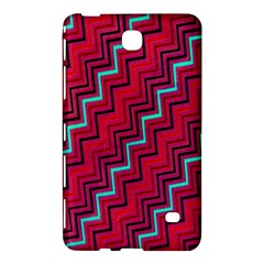 Red Turquoise Black Zig Zag Background Samsung Galaxy Tab 4 (8 ) Hardshell Case