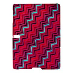 Red Turquoise Black Zig Zag Background Samsung Galaxy Tab S (10.5 ) Hardshell Case
