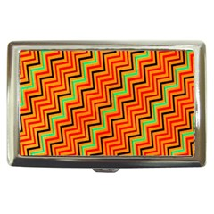 Orange Turquoise Red Zig Zag Background Cigarette Money Cases