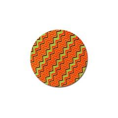 Orange Turquoise Red Zig Zag Background Golf Ball Marker (4 pack)