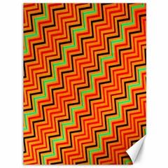Orange Turquoise Red Zig Zag Background Canvas 36  x 48