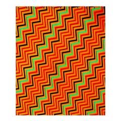 Orange Turquoise Red Zig Zag Background Shower Curtain 60  X 72  (medium)