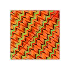 Orange Turquoise Red Zig Zag Background Acrylic Tangram Puzzle (4  X 4 )