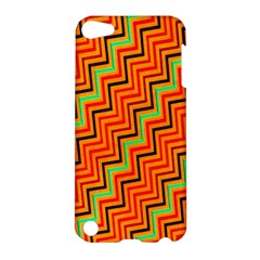 Orange Turquoise Red Zig Zag Background Apple Ipod Touch 5 Hardshell Case