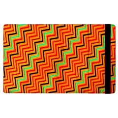 Orange Turquoise Red Zig Zag Background Apple Ipad 3/4 Flip Case