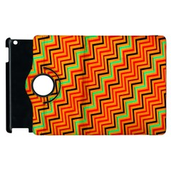 Orange Turquoise Red Zig Zag Background Apple Ipad 3/4 Flip 360 Case