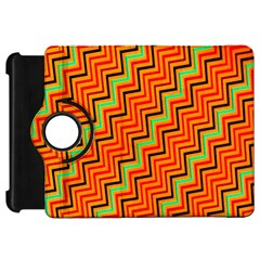 Orange Turquoise Red Zig Zag Background Kindle Fire Hd 7