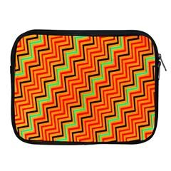 Orange Turquoise Red Zig Zag Background Apple Ipad 2/3/4 Zipper Cases