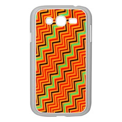 Orange Turquoise Red Zig Zag Background Samsung Galaxy Grand DUOS I9082 Case (White)