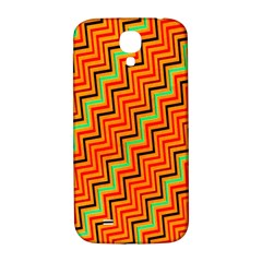 Orange Turquoise Red Zig Zag Background Samsung Galaxy S4 I9500/I9505  Hardshell Back Case