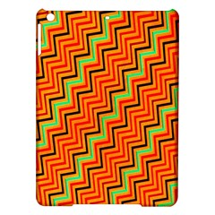 Orange Turquoise Red Zig Zag Background Ipad Air Hardshell Cases
