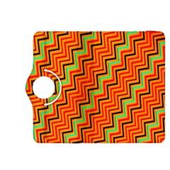Orange Turquoise Red Zig Zag Background Kindle Fire HDX 8.9  Flip 360 Case