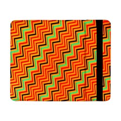 Orange Turquoise Red Zig Zag Background Samsung Galaxy Tab Pro 8.4  Flip Case