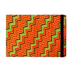 Orange Turquoise Red Zig Zag Background Ipad Mini 2 Flip Cases