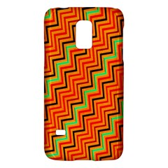 Orange Turquoise Red Zig Zag Background Galaxy S5 Mini