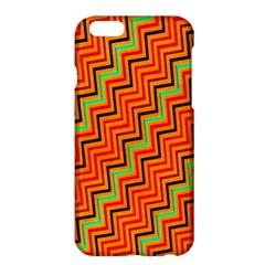 Orange Turquoise Red Zig Zag Background Apple iPhone 6 Plus/6S Plus Hardshell Case