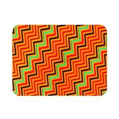 Orange Turquoise Red Zig Zag Background Double Sided Flano Blanket (mini)